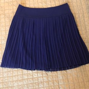 Blue pleated skirt from LOFT. Size 6